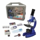 100/450/900X DELUXE MICROSCOPE SET W. METAL DIE CAST BODY IN CASE