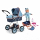 13mm pipe doll pram with 36cm doll and accessories