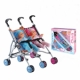 twin stroller with 32cm doll